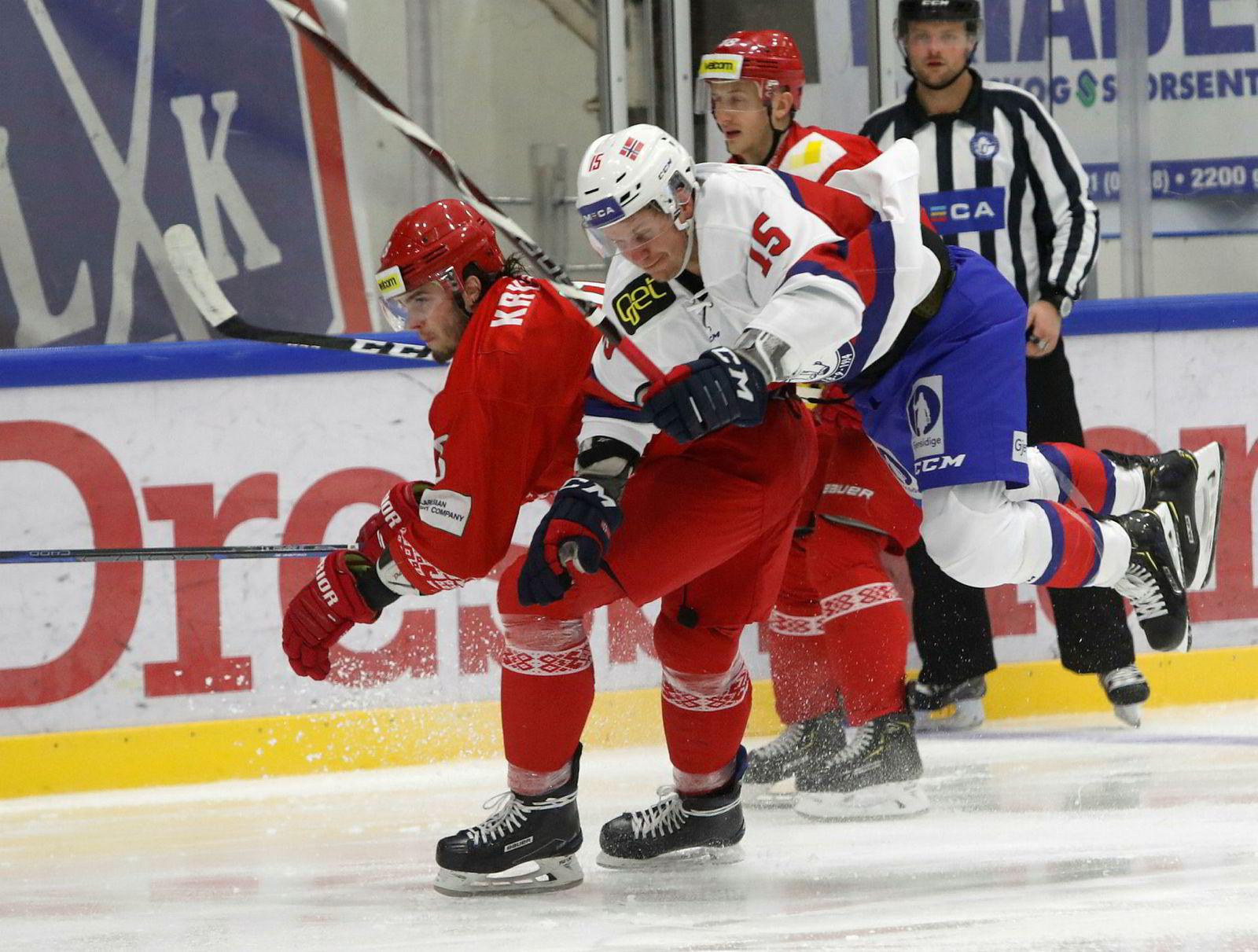 Oppgjøret mellom Norge og Hviterussland i Lørenskoghallen den 13. desember endte 6–1.