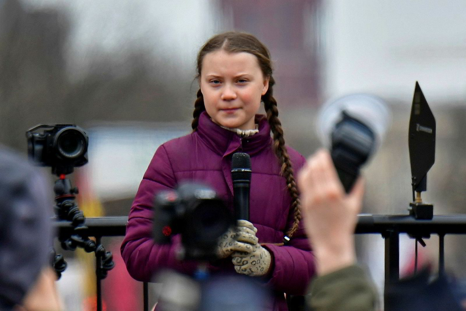 Svenske Greta Thunberg på en klimademonstrasjon i Berlin forrige måned.