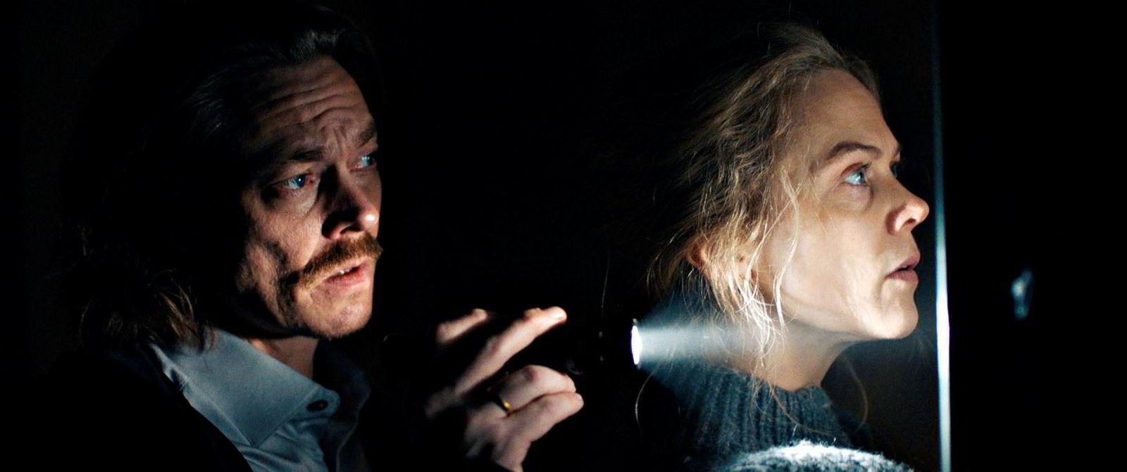 Hovedrolleinnehaverne Kristoffer Joner (Kristian) og Ane Dahl Torp (Idun) kjemper for livet når Oslo rammes av et massivt jordskjelv i spillefilmen «Skjelvet».