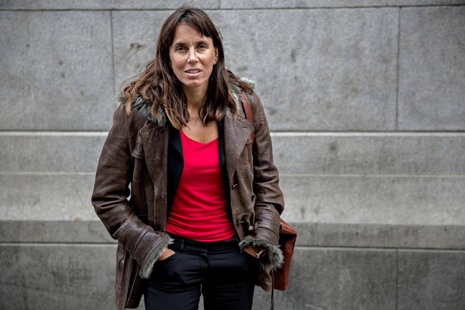 Bettina Banoun i advokatfirmaet Wiersholm representerer Petter Olsen i søksmålet mot Skatteetaten. Hun vil ikke si noe om hva saken handler om.