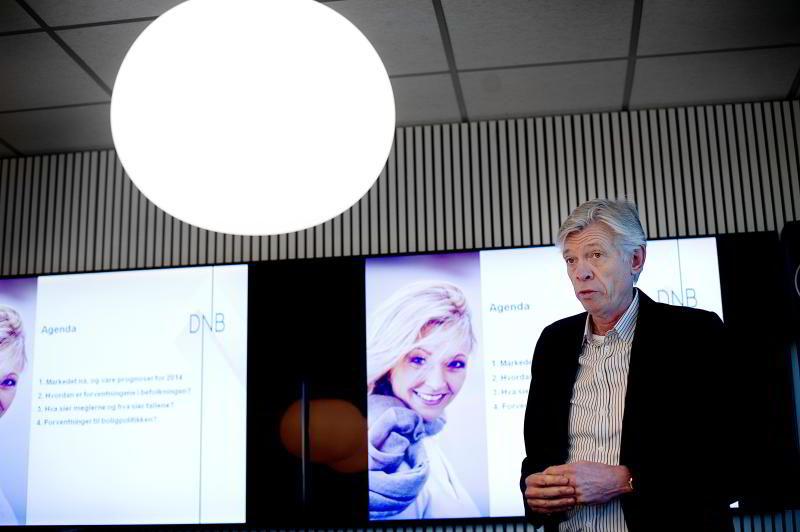 Administrerende direktør Terje Halvorsen i DNB Eiendom får stadig mer for salg.