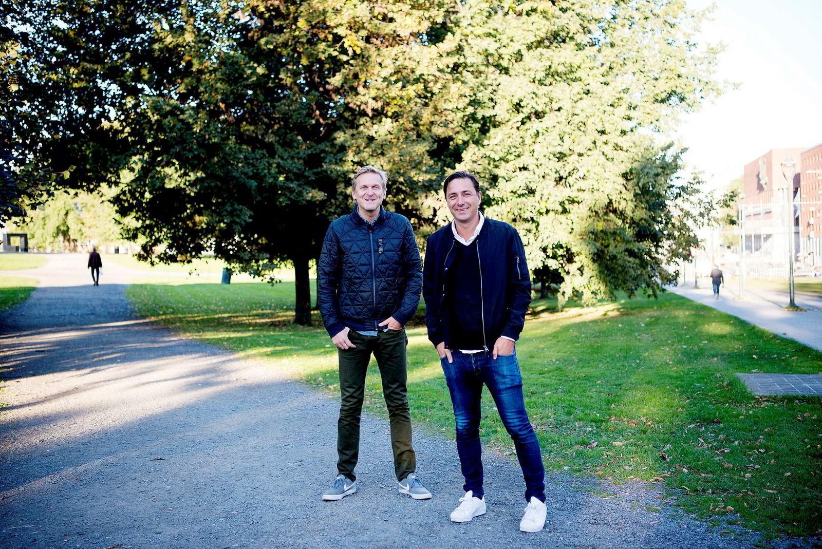 Trond Kvernstrøm (til venstre) og Christian Steen står bak The Oslo Company.