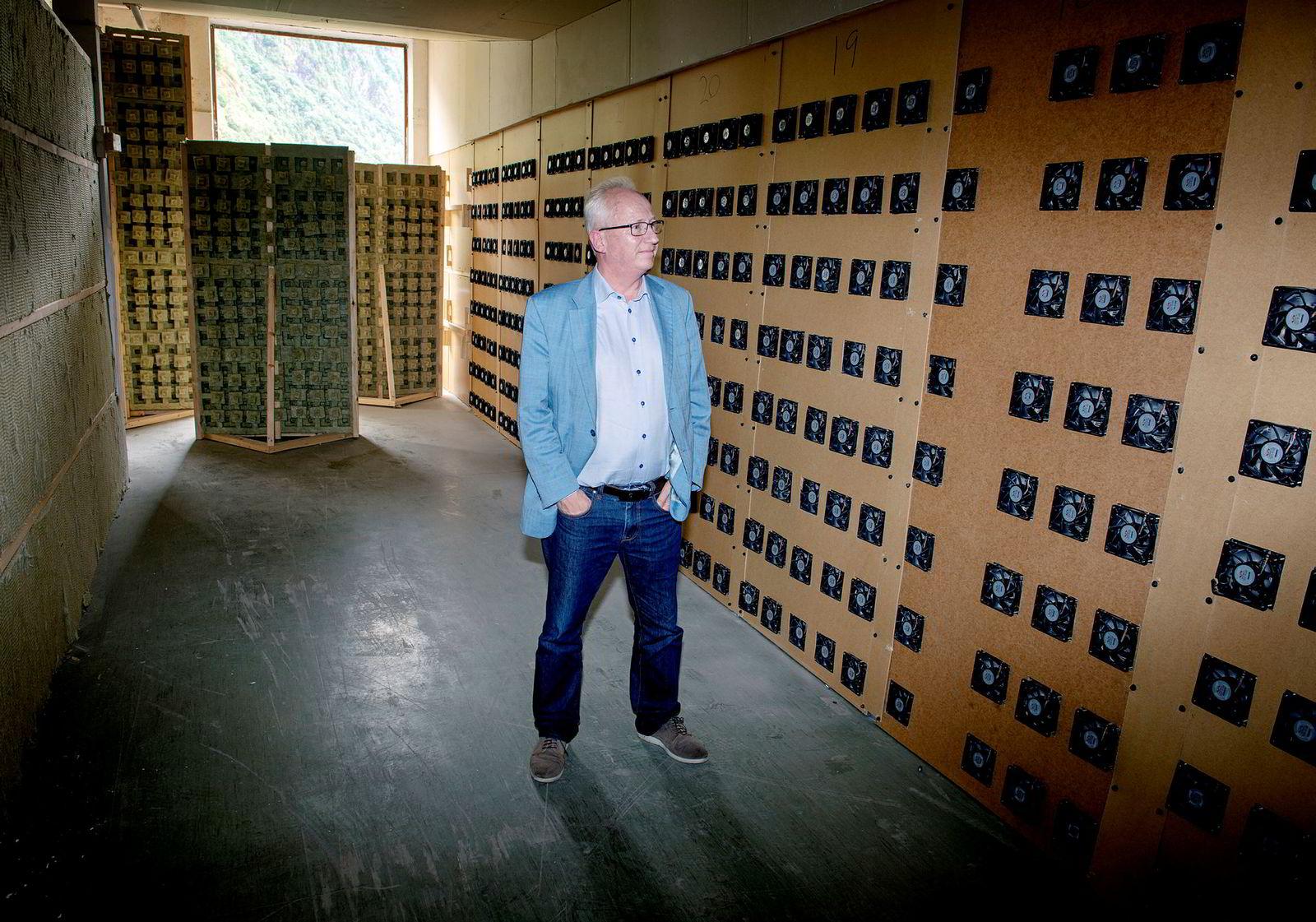 – Det er bedre at norsk strøm benyttes til datasentre i Norge enn til datasentre i Danmark, sier Gjermund Hagesæter, talsmann for Kryptovault.