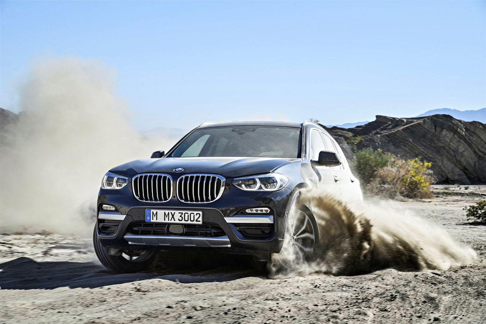 X3 har fått større «nyrer», som de andre BMW-modellene.