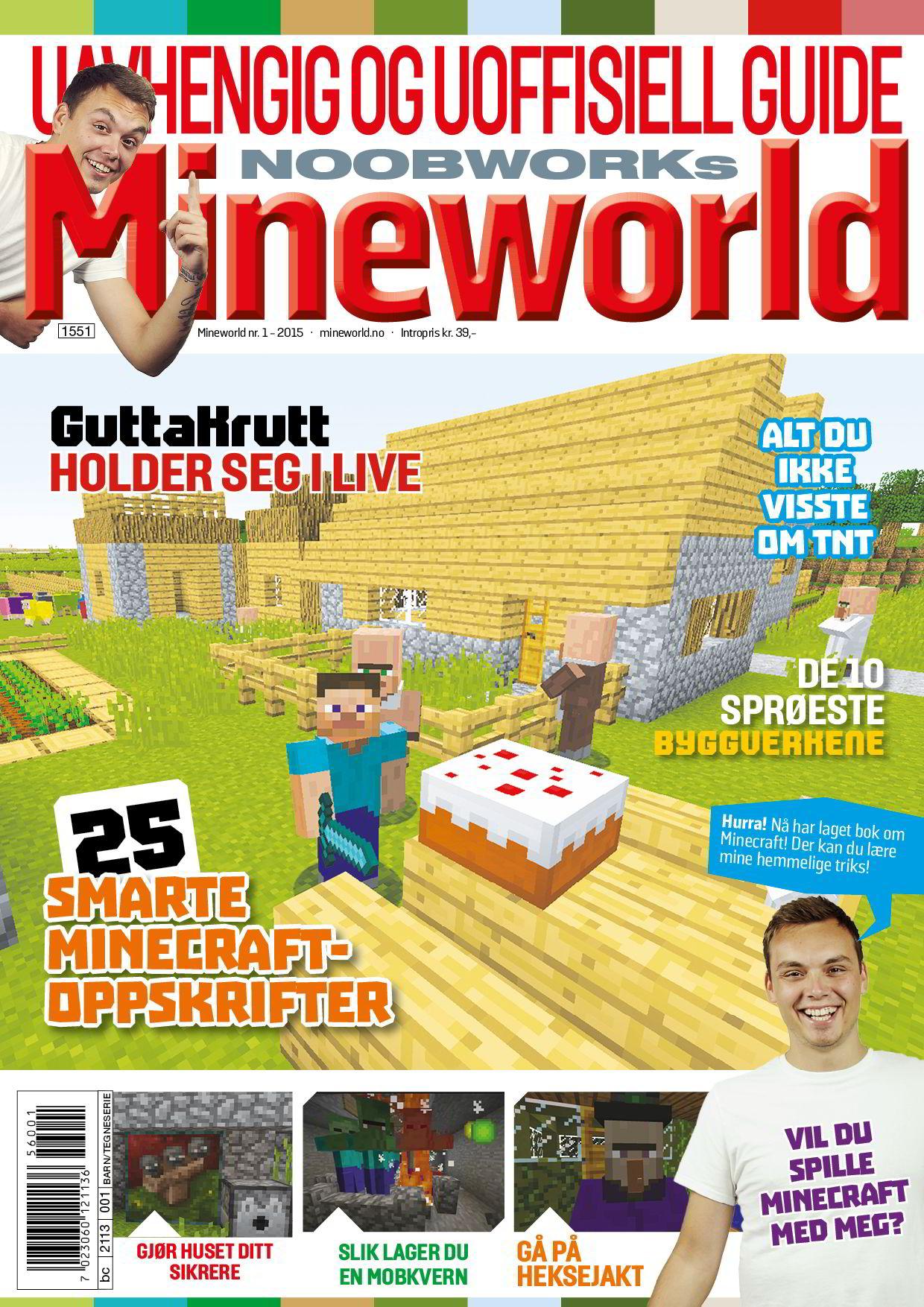 Joachim Haraldsen gir ut et månedlig magasin som i hovedsak handler om ham og dataspillet Minecraft.