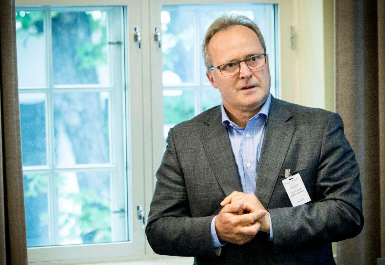 Administrerende direktør Dagfinn Neteland i Fjord1 etter børsnoteringen av selskapet.