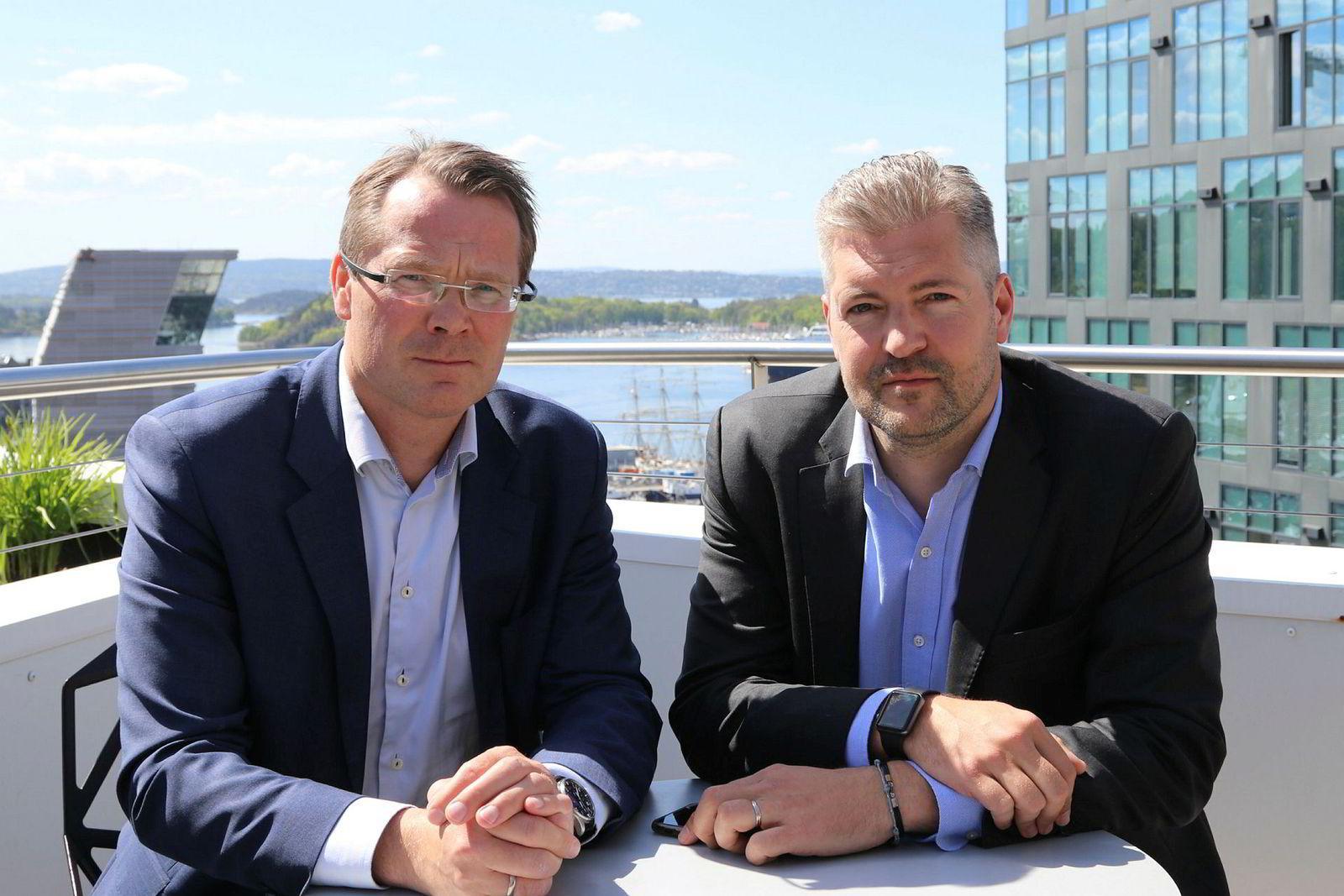 Advokat og director Bjørn Ofstad (t.v.) og advokat og partner Thomas Talen i Deloitte Advokatfirma.