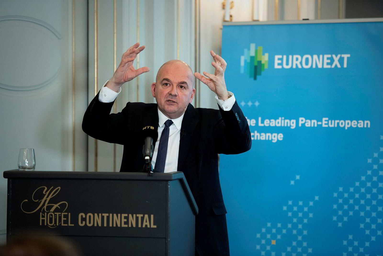 På en pressekonferanse mandag oppfordret Euronext-sjef Stéphane Boujnah alle til å sjekke, dobbeltsjekke og trippelsjekke faktum omkring Euronext i kampen om Oslo Børs.