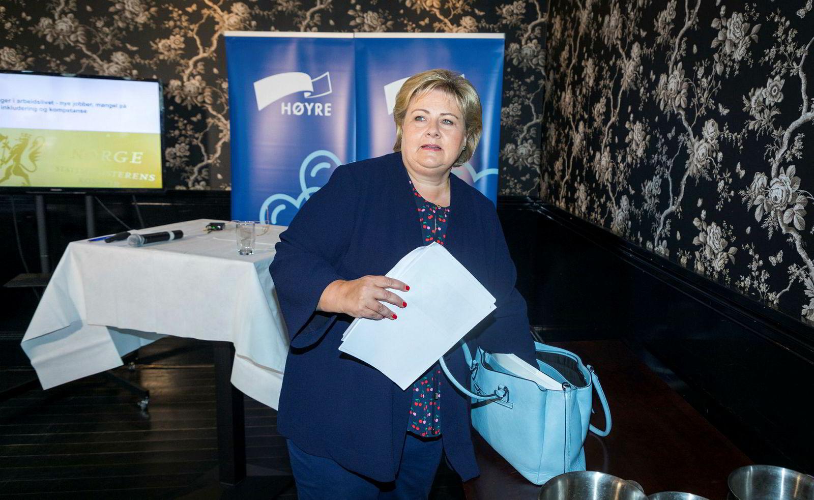 Statsminister Erna Solberg innledet Arendalsuken med å advare om at 43-timers arbeidsuke kan bli nødvendig i fremtiden.
