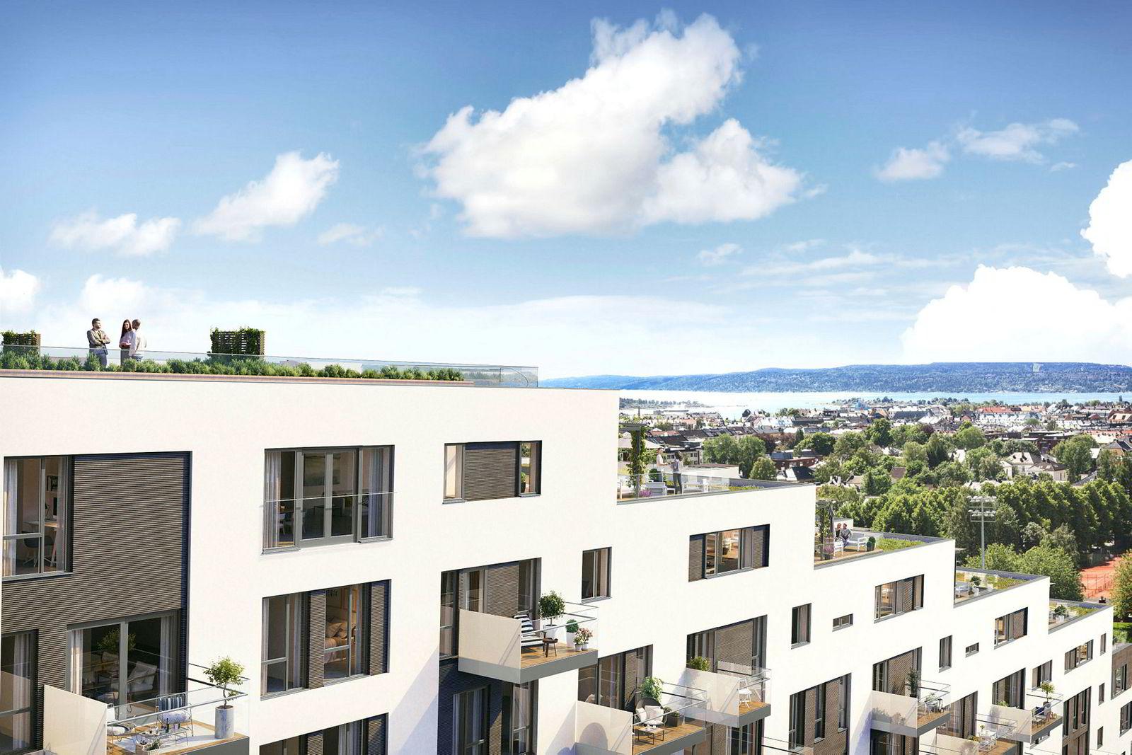 Med sine 395 kvadratmeter har leiligheten en kvadratmeterpris på saftige 245.000 kroner.