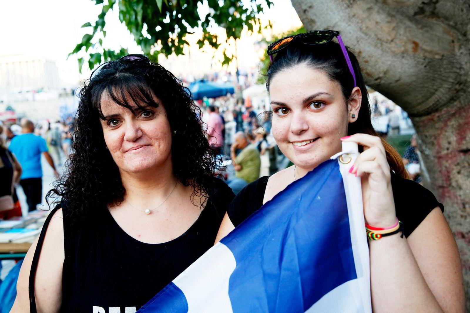 - I dag står det greske folk sammen, sier  Maria Alysandratou.