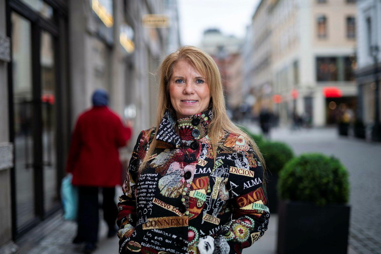 Leder i Bokhandlerforeningen, Trine Stensen.