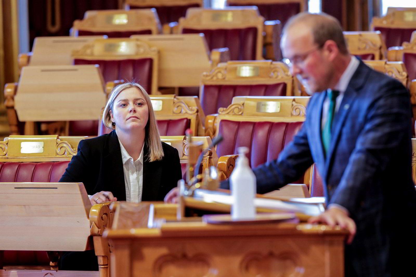 Olje- og energiminister Tina Bru holdt 10. juni en redegjørelse i Stortinget om departementets eierstyring med Equinors utenlandsvirksomhet.