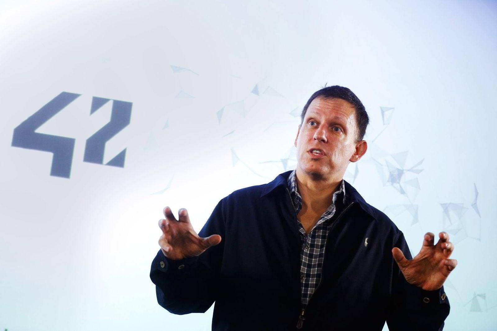 Peter Thiel, gründer av PayPal.