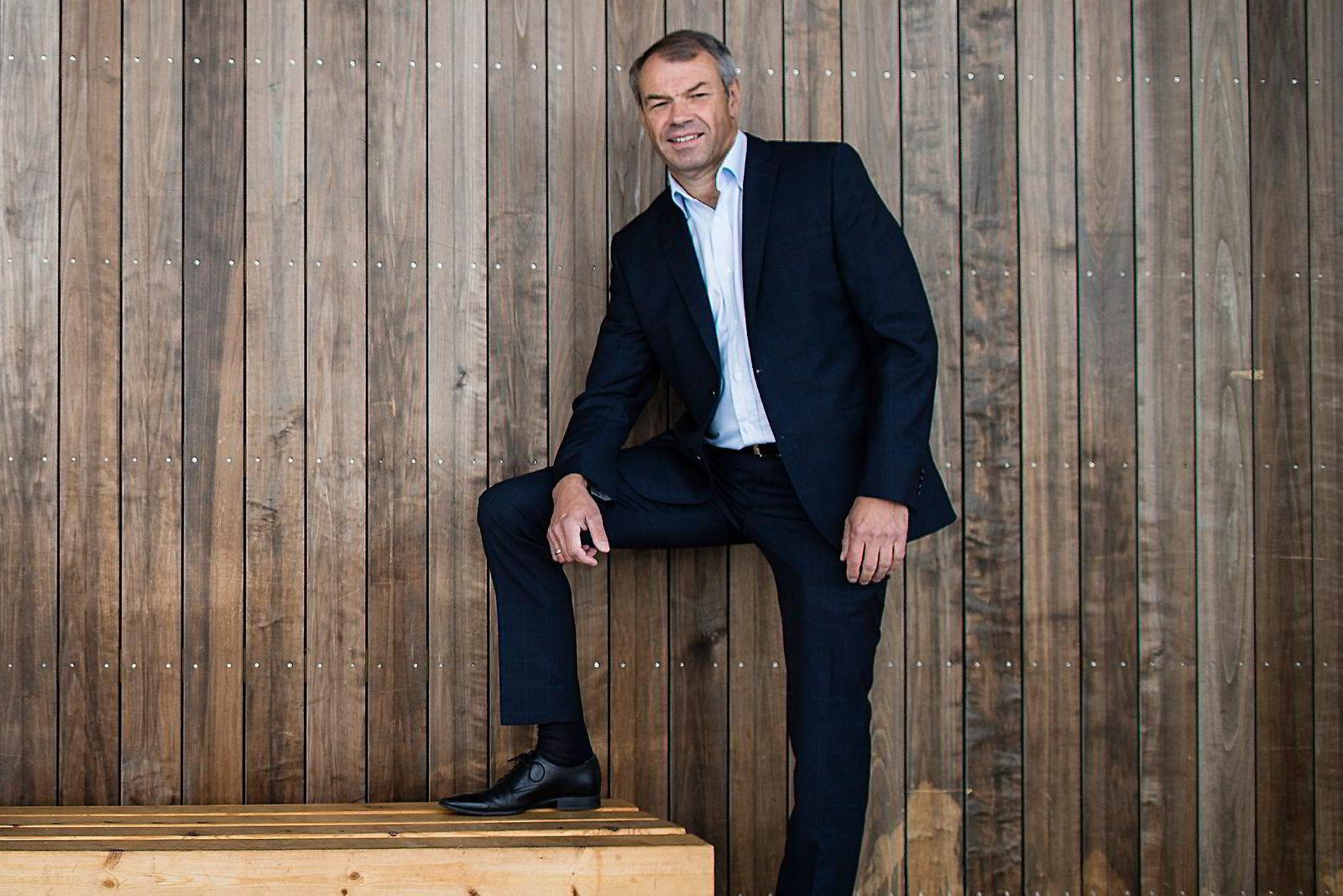 Konsernsjef Arne Austreid i Sparebank 1 SR-Bank venter lavere fortjeneste. Foto: