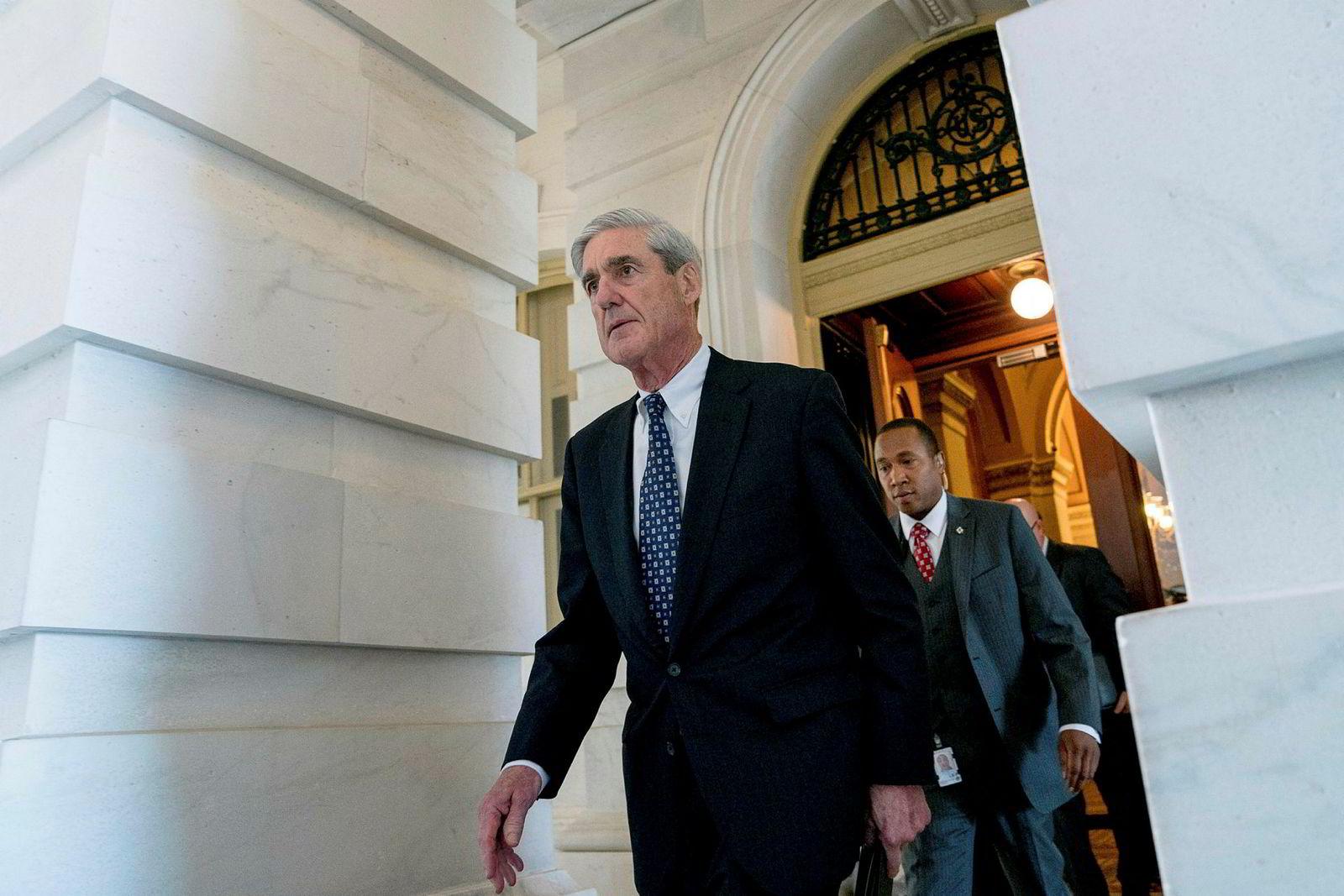 Spesialetterforsker Rober Mueller har ledet «Russland-etterforskningen» i 22 måneder.