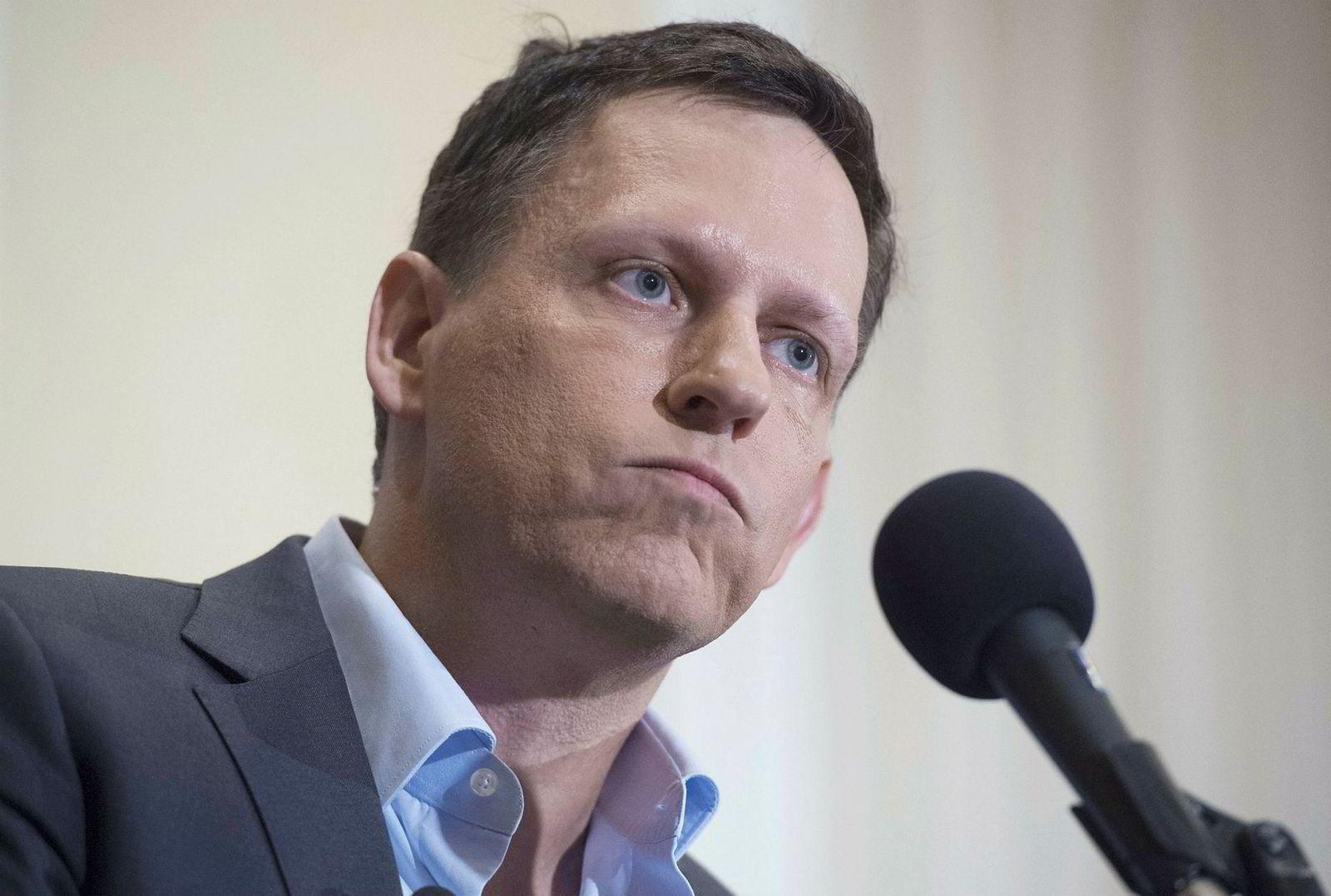 PayPal-gründer og venturekapitalist Peter Thiel står bak Founders Fund.