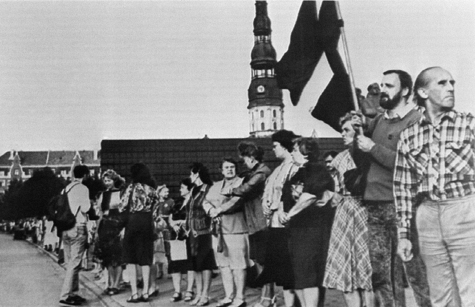 Den menneskelige lenken i 1989 gikk mellom de baltiske hovedstedene Tallinn, Riga og Vilnius.