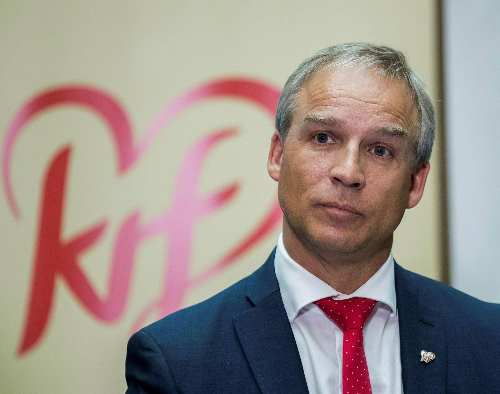Hans Olav Syversen var sentral da Kristelig Folkeparti ble enig med regjeringen om budsjett i fjor.
