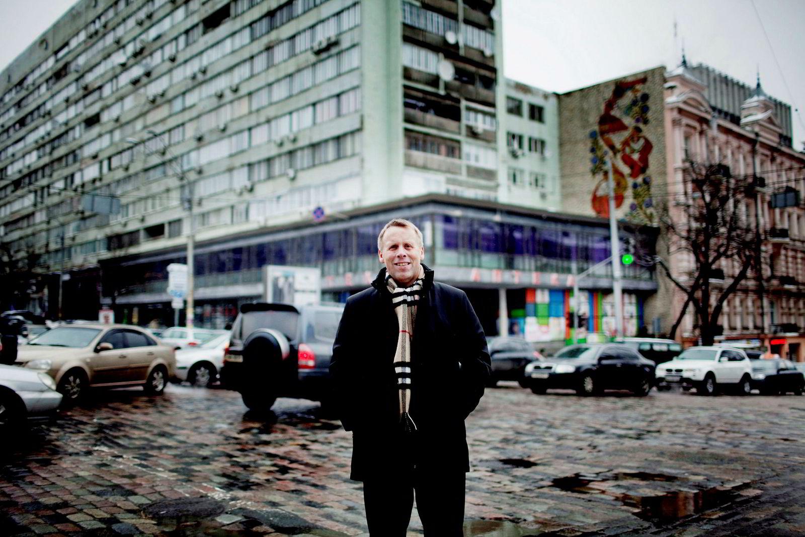Trond Moe her fotografert i Ukrainas hovedstad Kiev ved en tidligere anledning.