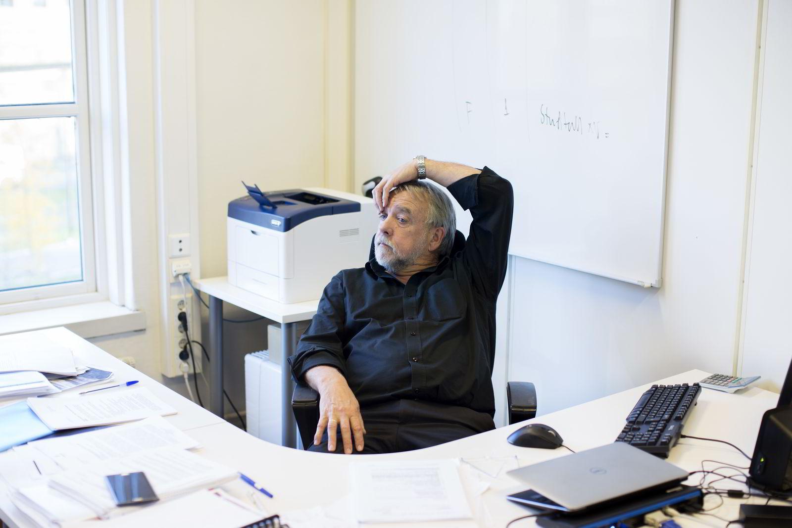 For rektor ved nye Westerdals Oslo ACT Bjørn Jarle Hanssen var det viktig å fortelle studentene hvordan fusjonene gagner studentene. Foto: