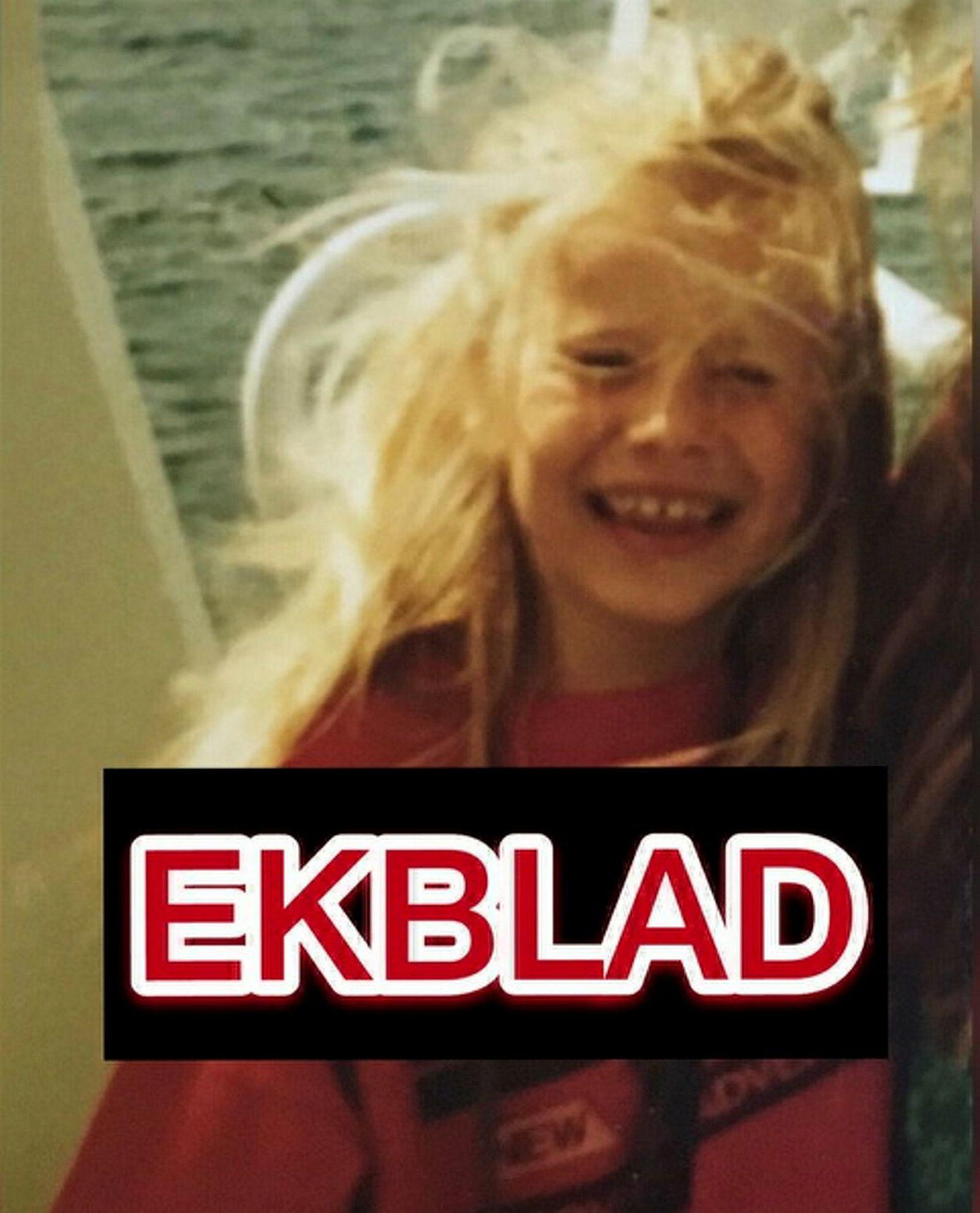 Slik så kunstverket ut etter at Ekblad byttet om bildet med et barndsombilde av seg selv. En midlertidig rettsavgjørelse i Tyskland gjør at Ekblad ikke har lov til å distribuere det originale bildet.