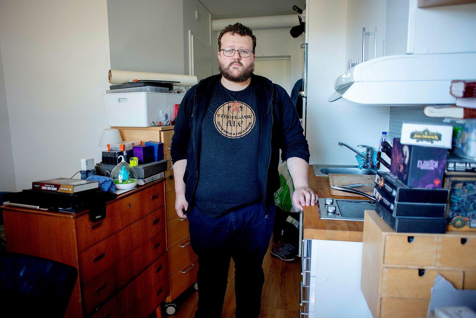Alexander Herring Orby leier en liten leilighet i Kirkeveien 166E av Ivar Tollefsen. Den var annonsert med 15 kvadratmeter, men er i realiteten 12,5. Nå er han spent på om han får lavere leie.