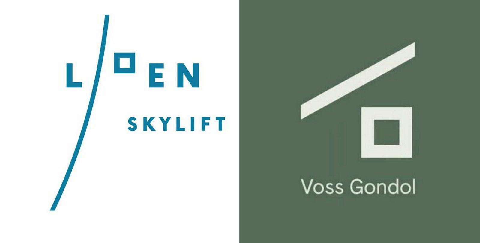 De to logoene det strides om, som man finner i henholdsvis Loen og på Voss.