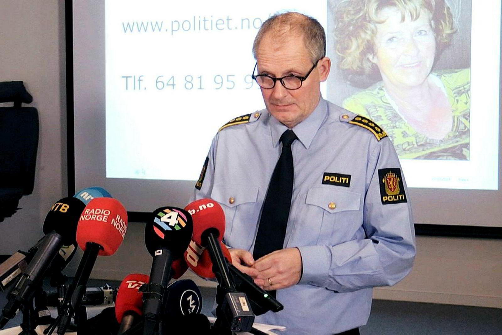 Politiet ble varslet om bortføringen av Anne-Elisabeth Hagen onsdag 31. oktober og anmeldte umiddelbart saken, sa politiinspektør Tommy Brøske i Øst politidistrikt under en pressekonferanse torsdag.