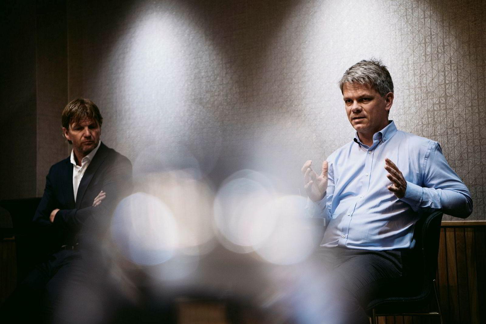 Ross Porter (til høyre), her sammen med Bjørn Maaseide.