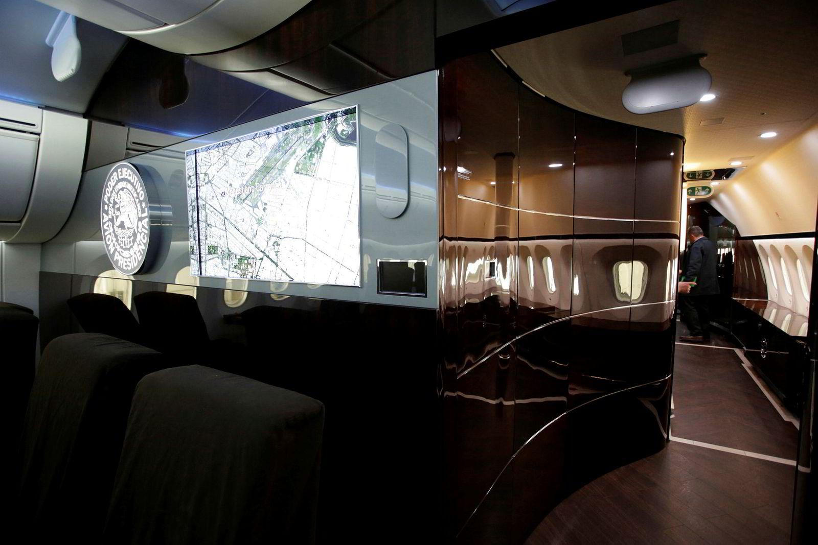 Deler av interiøret i Dreamlineren.