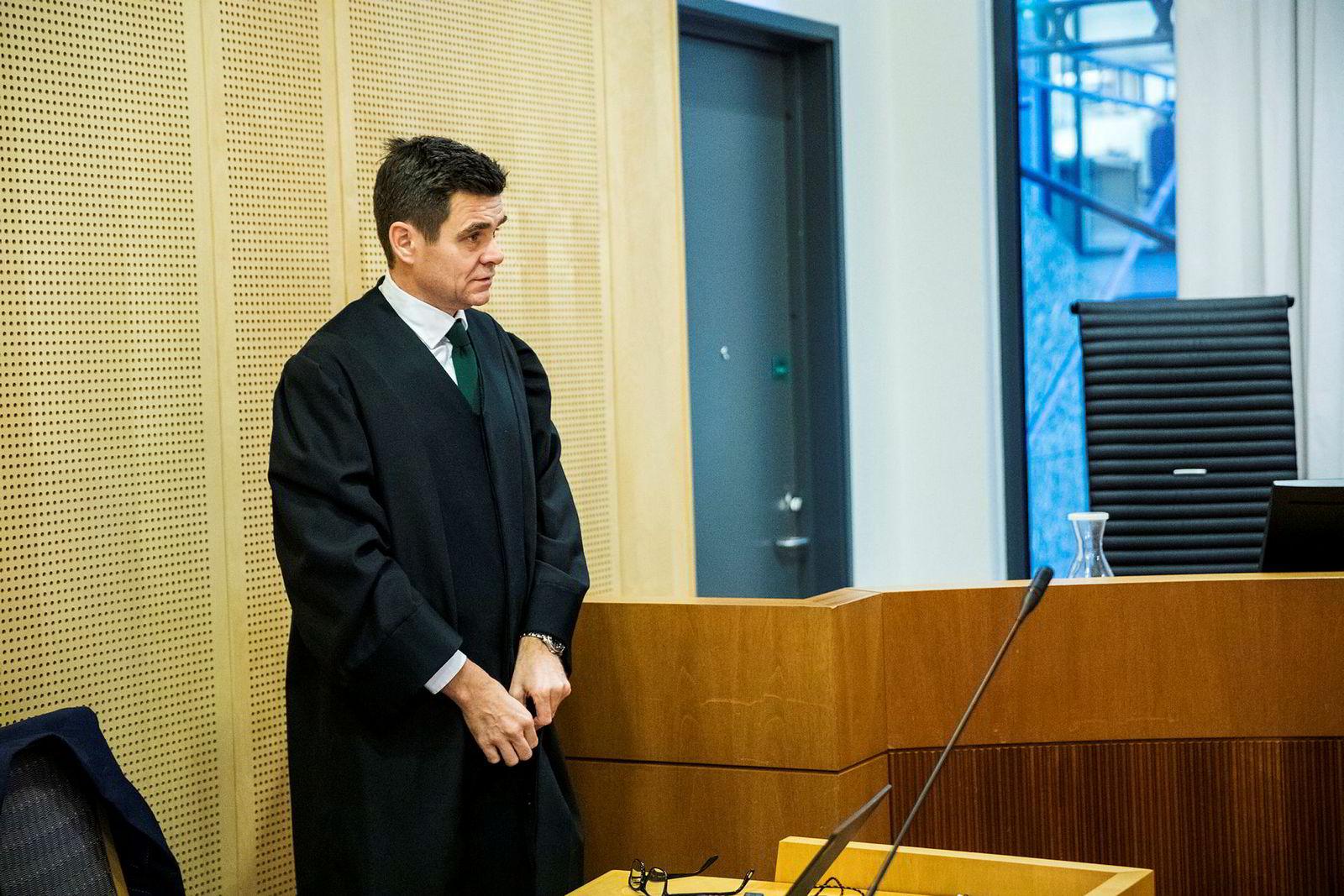 Advokat Fredrik Berg representerer Tidal i saken. Her fra en tidligere rettssak.