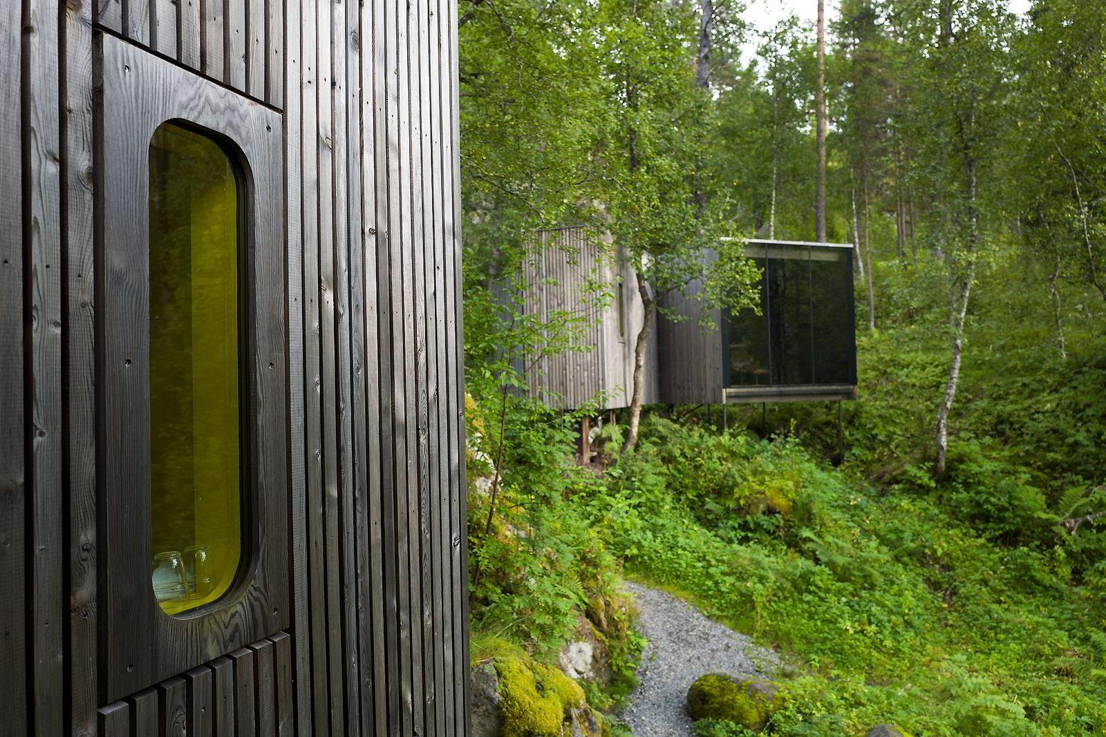 Juvet landskapshotell. Landskapsrom med utsikt rett ut i naturen.