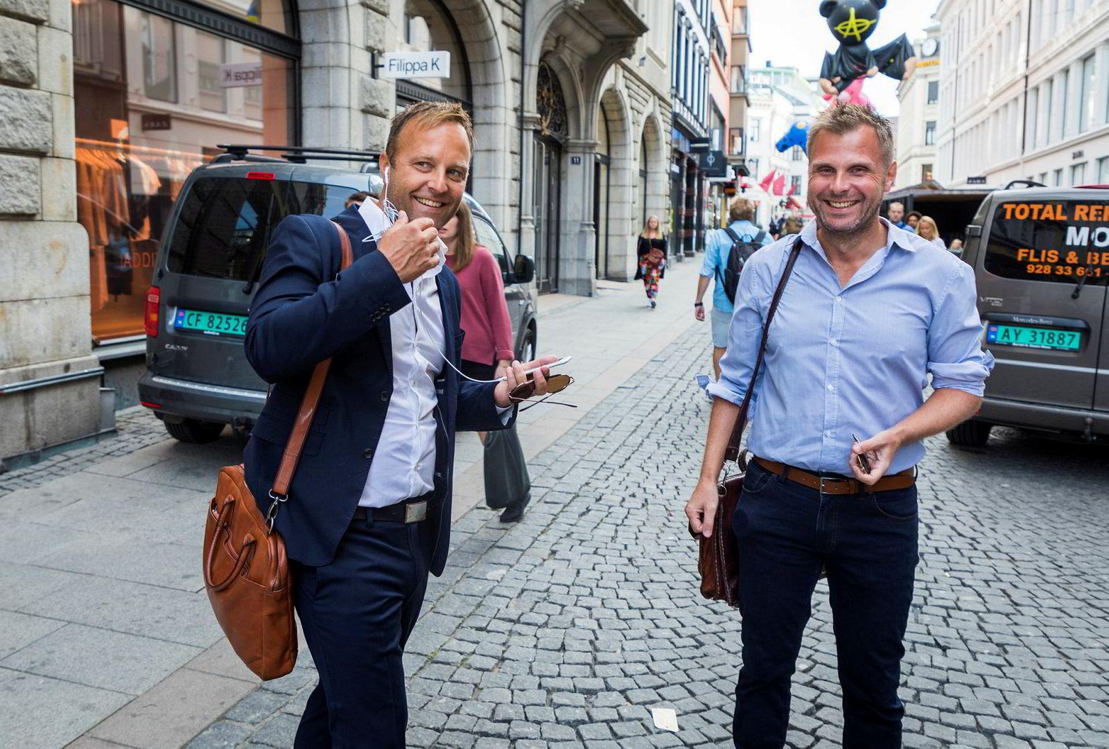 Try råd-sjef Sindre Beyer (til venstre), her med partner Torgeir Micaelsen.
