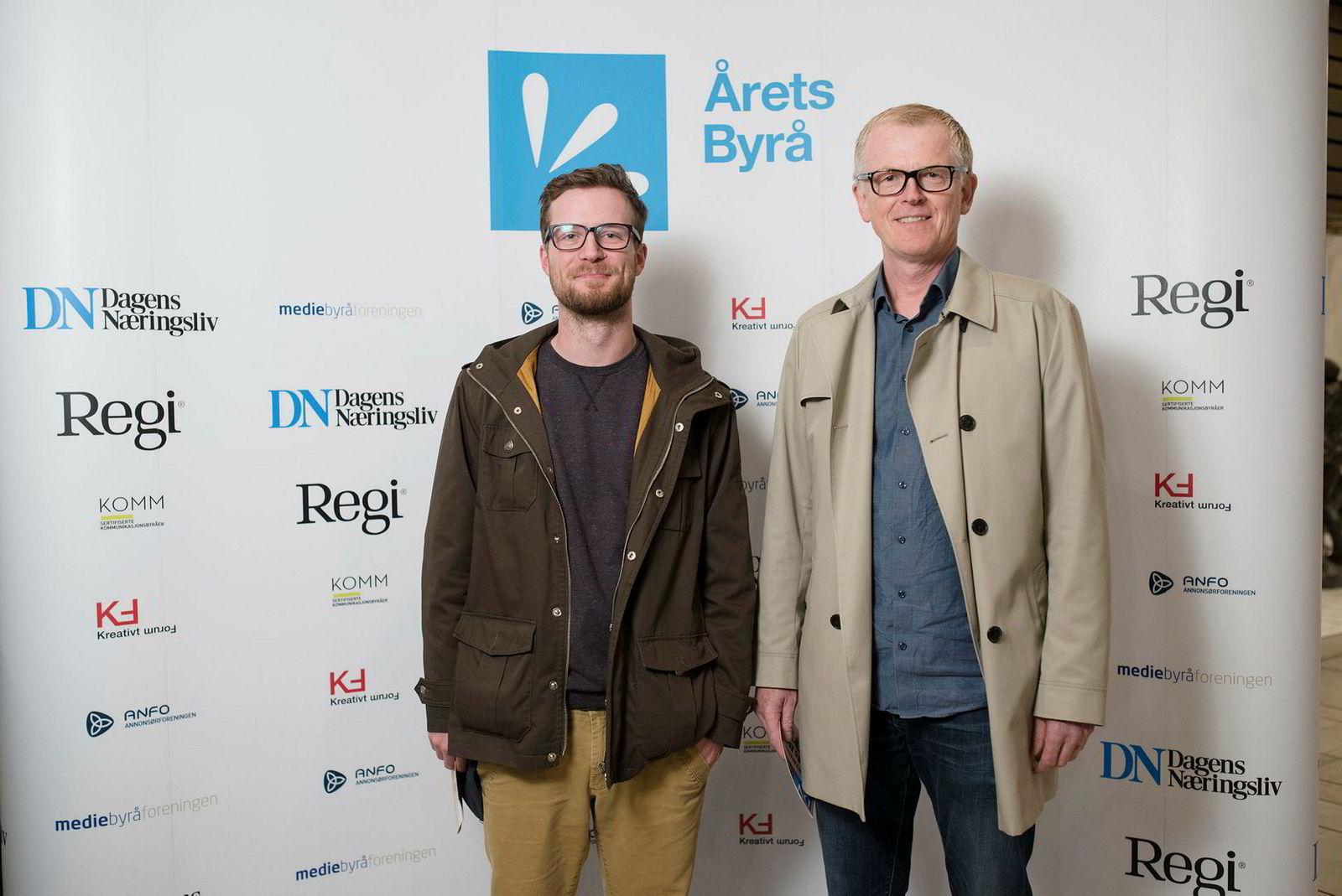 Thorbjørn Naug (til høyre) i Naug & Venner med kollega (og venn?) Pawel Bilas.