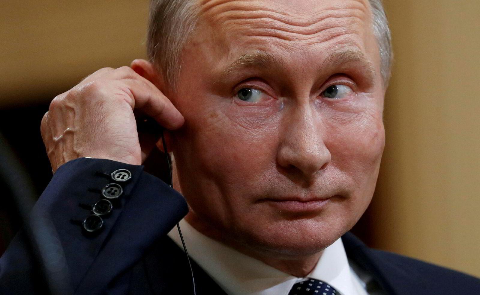 Russlands president Vladimir Putin på i Finland om at USA utleverer korrupsjonsjegeren Bill Browder.