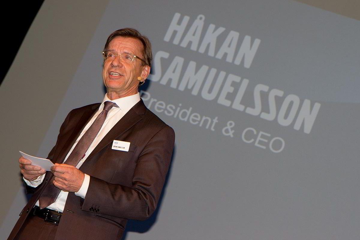 Volvo-sjef Håkan Samuelsson sier seg godt fornøyd med resultatene første halvår.