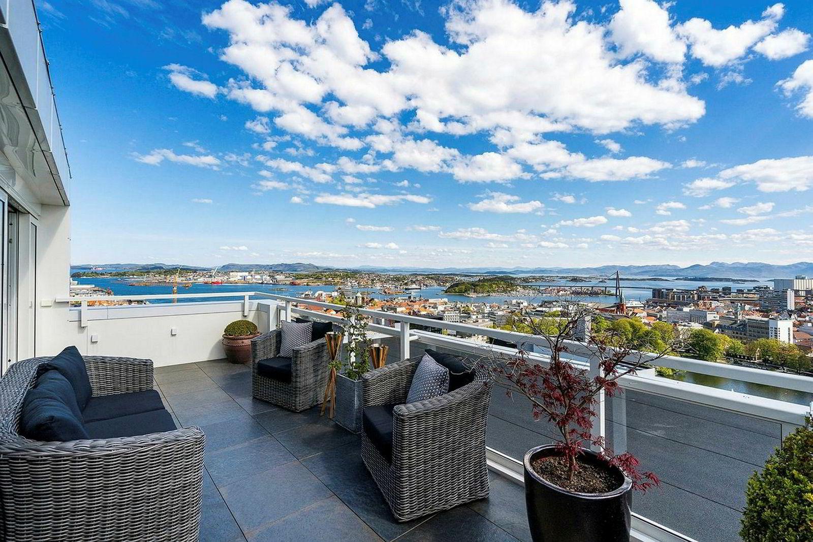 Den for tiden dyreste leiligheten i Stavanger er en toppleilighet på 167 kvadratmeter.