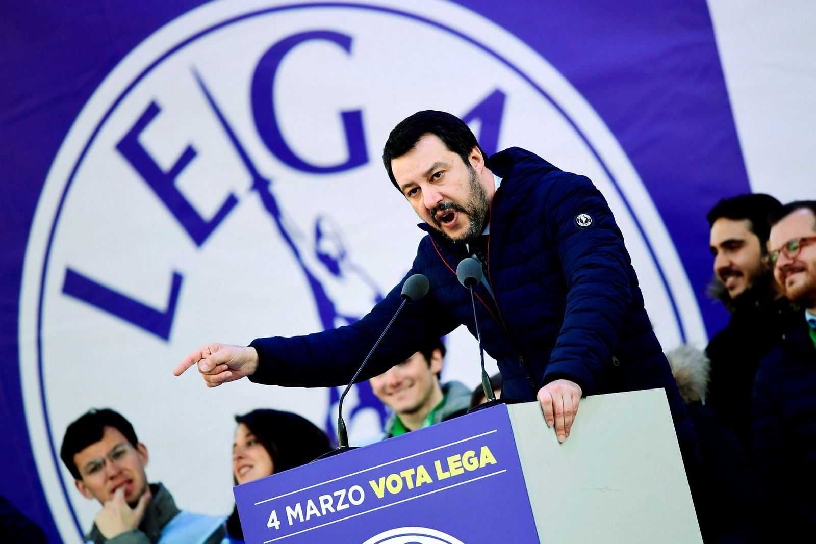 Partileder Matteo Salvini i Lega Nord.