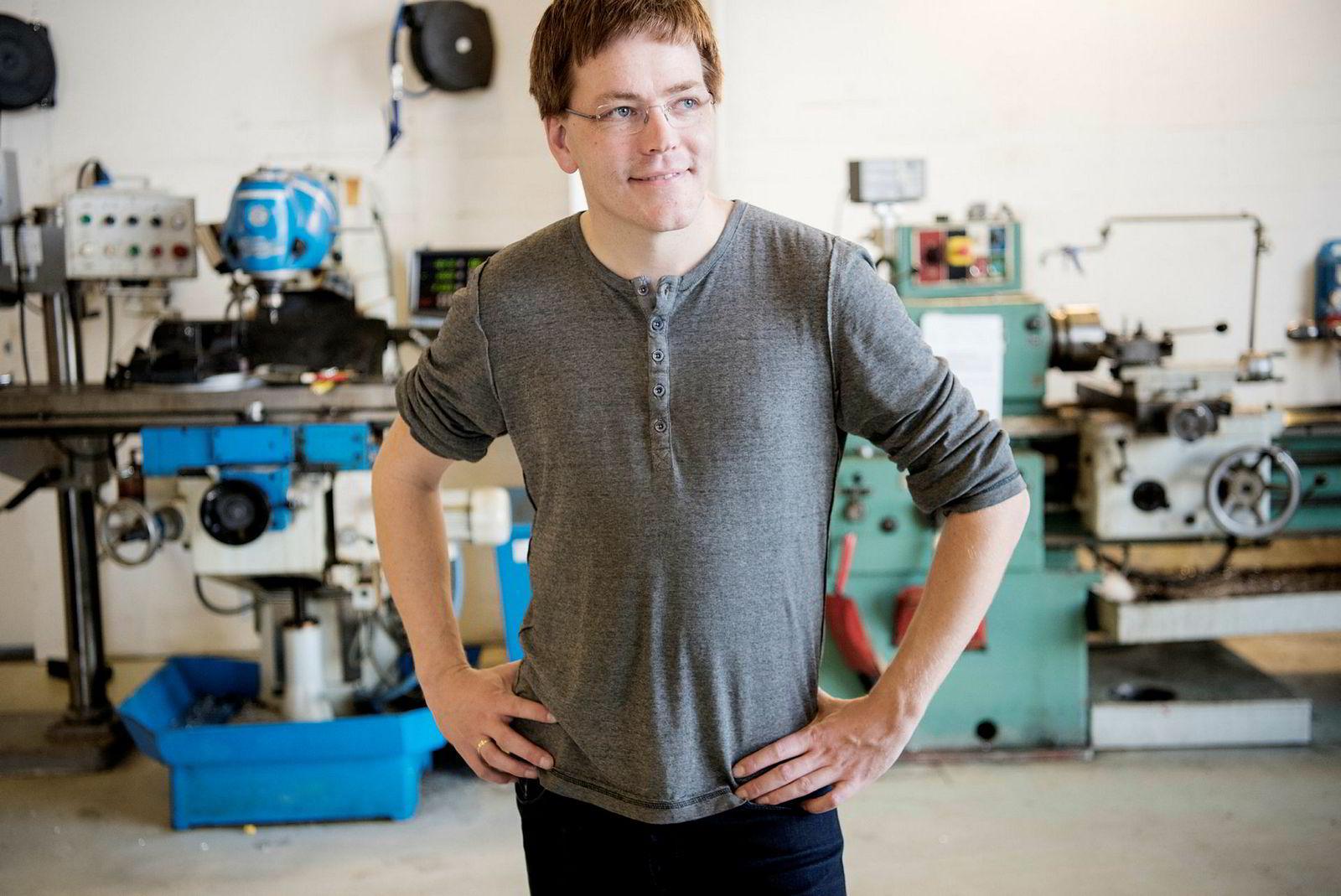 Vidar Haus (32) er administrerende direktør, men håper egentlig å kunne vie seg til teknisk utvikling når bedriften vokser.
