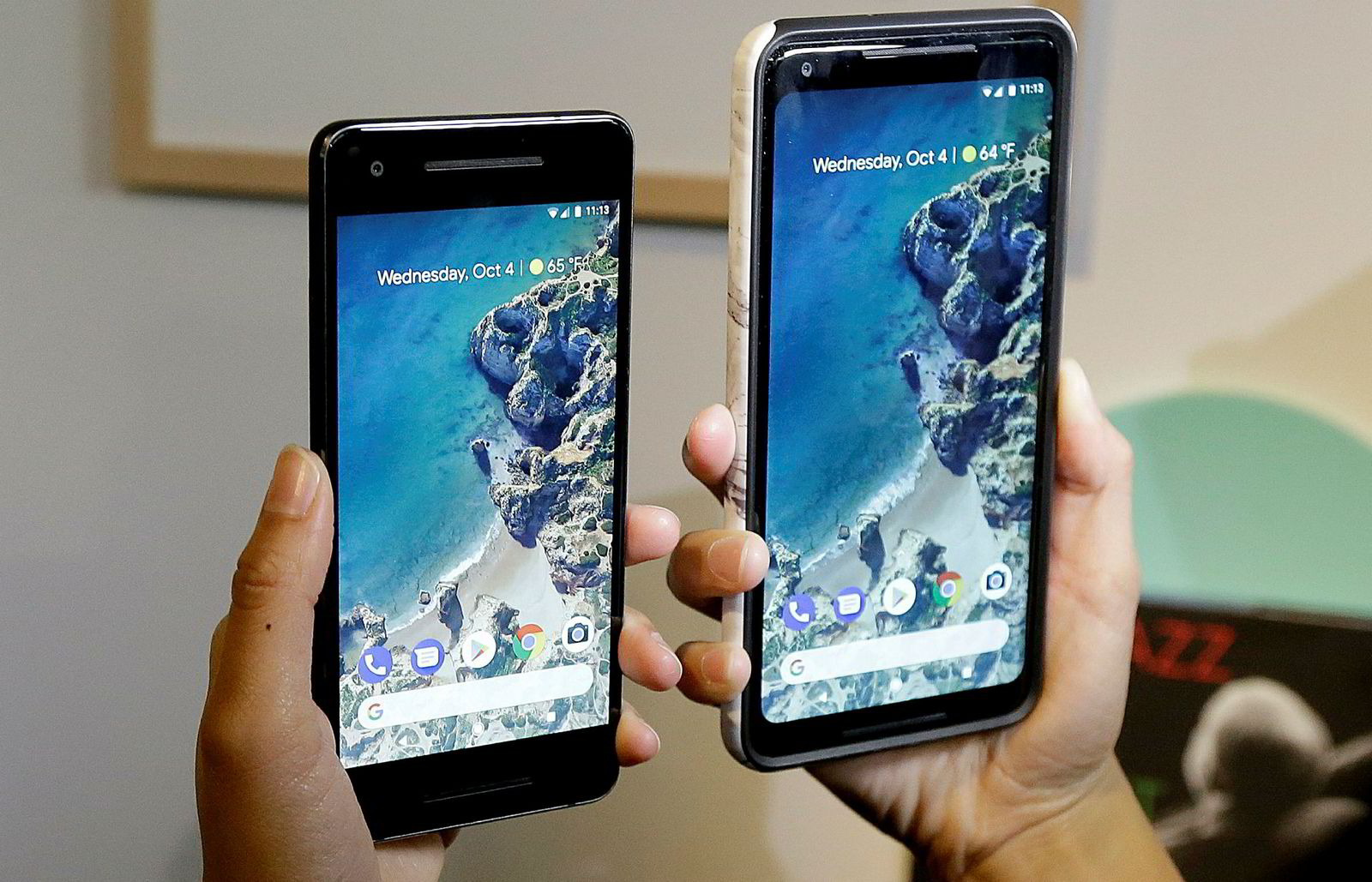 Googles nye smarttelefoner, Pixel 2, ble lansert på onsdag kveld.