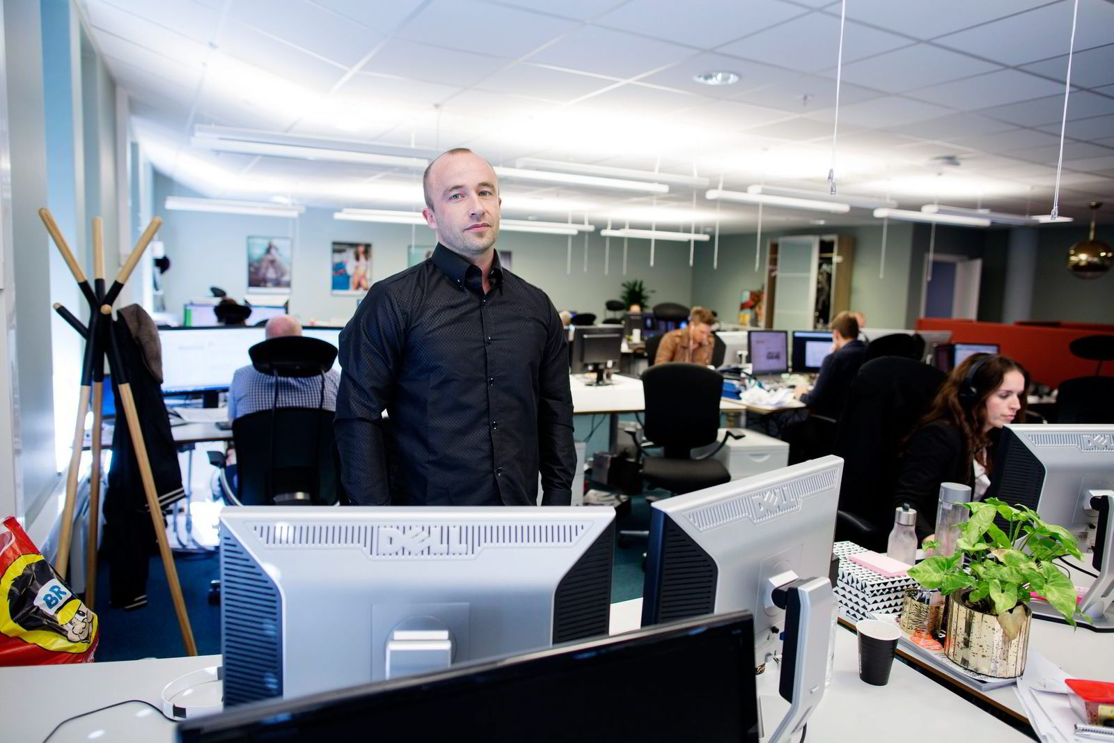 Magasinsjef Gaute Tyssebotn i Nettavisen er irritert på nykommeren United Bloggers. Foto: