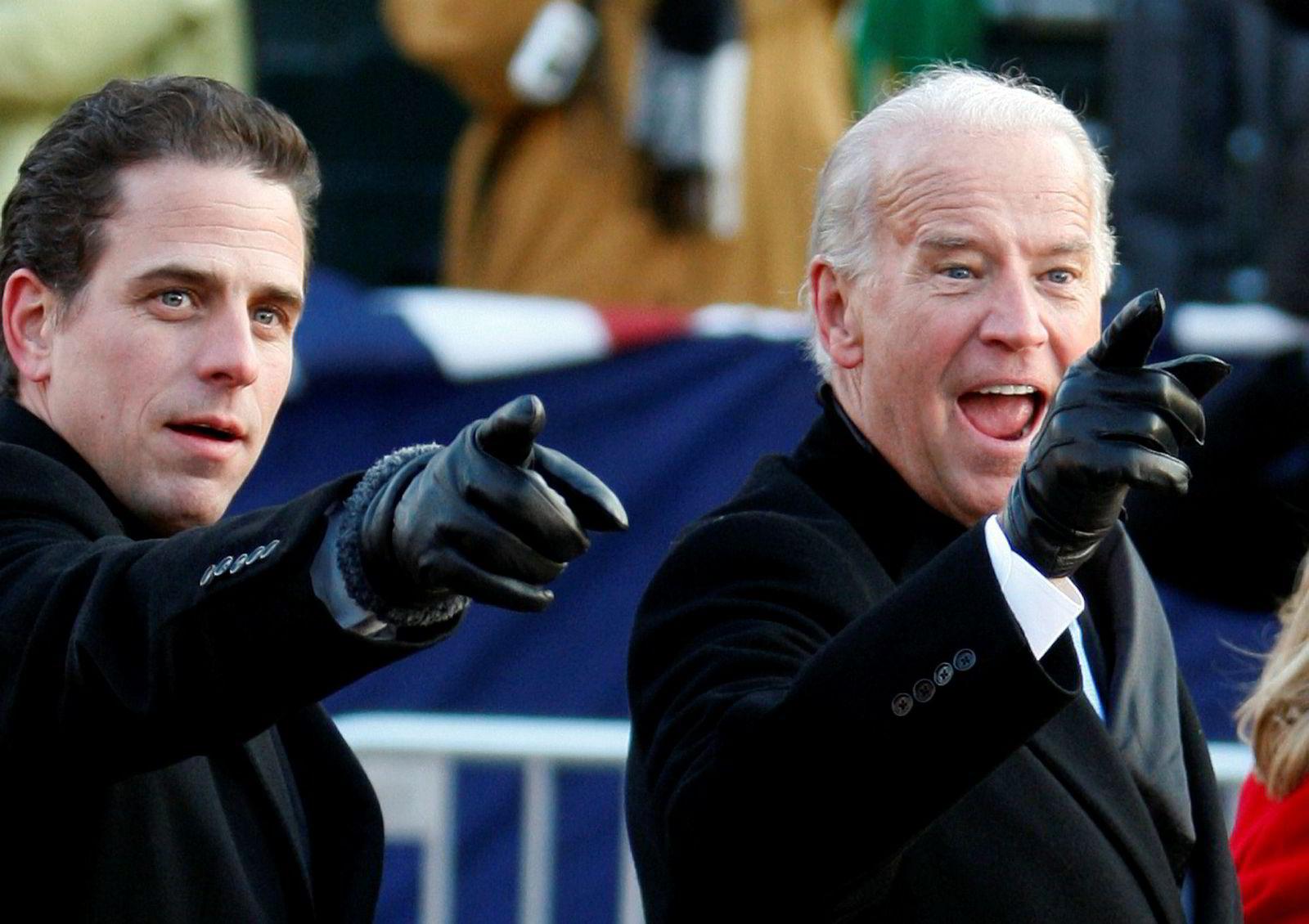 Presidentkandidat og tidligere visepresident Joe Biden, sammen med sønnen Hunter Biden.