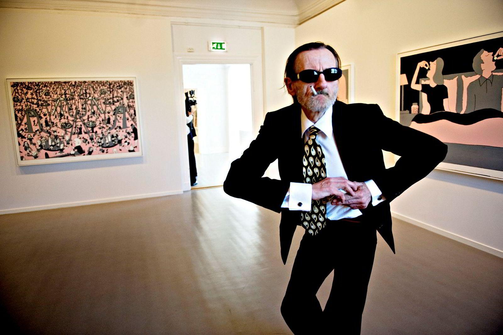 Terje Brofoss på Oslo Kunstforening i 2008, i forbindelse med en utstilling av bilder han malte i New York i 1988.