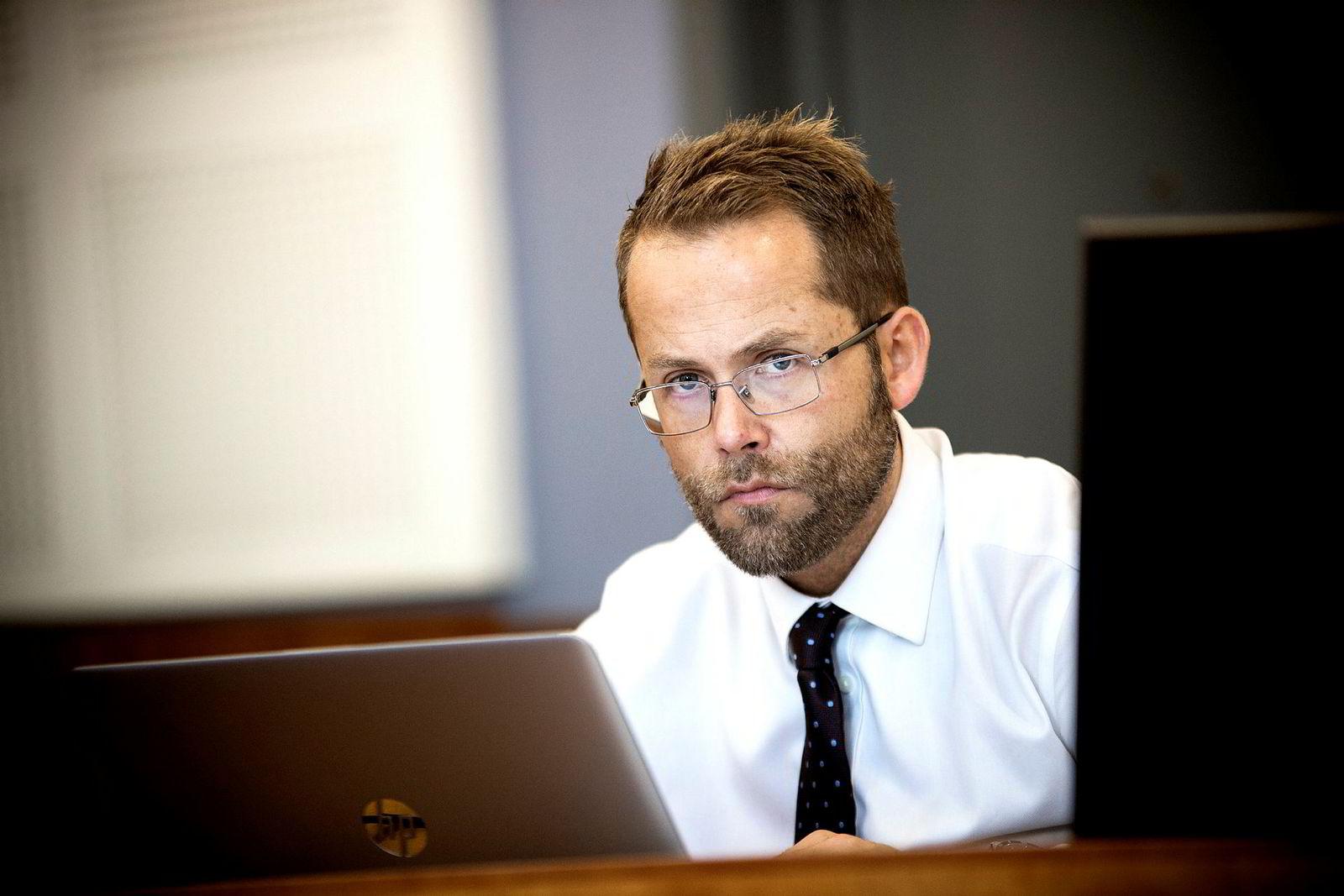 Max Henrik Jespersen fra Advokatfirmaet Elden er Hanne Madsens forsvarer. Foto: Tomm W. Christiansen/DN