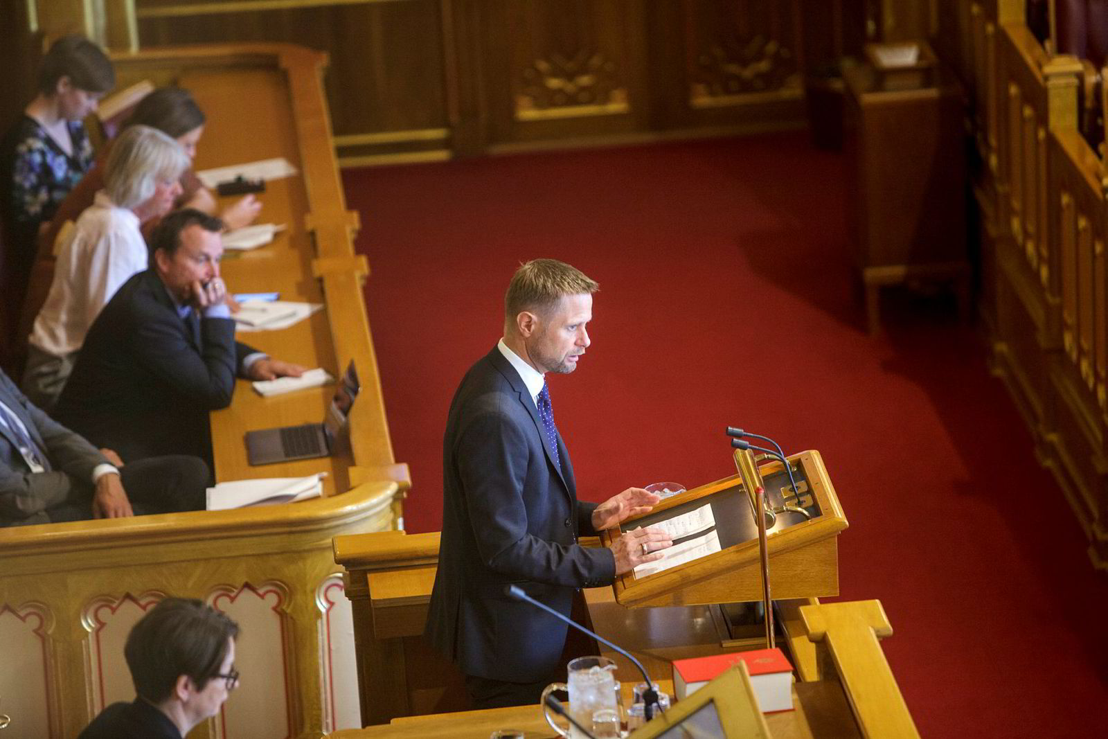 Helseminister Bent Høie ga en egen redegjørelse i Stortinget tirsdag.