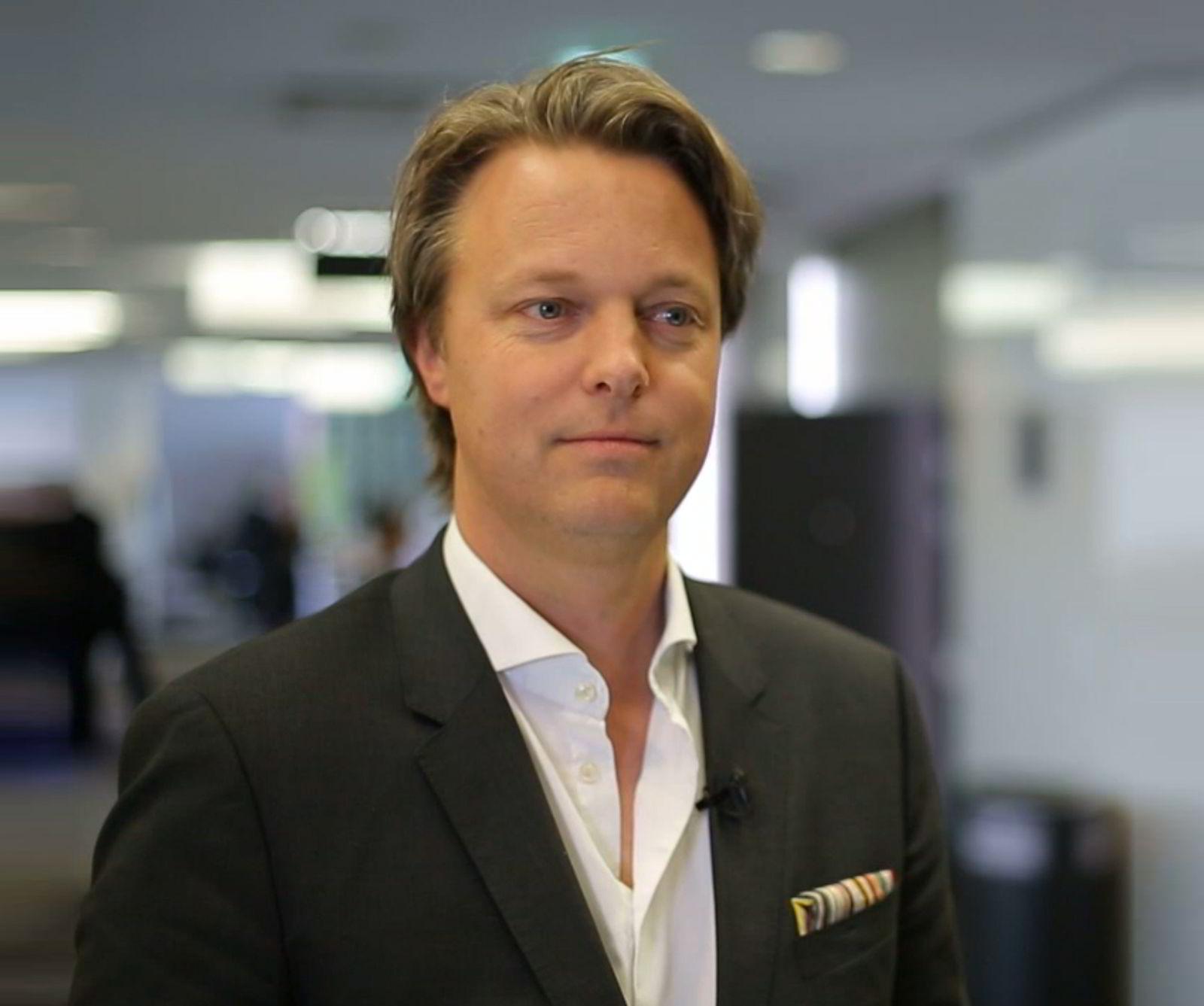 FØLGER UTVIKLINGEN. Direktør Jarle Holmfor «Innovation and Business Development» i Evry. FOTO: Pressebilde