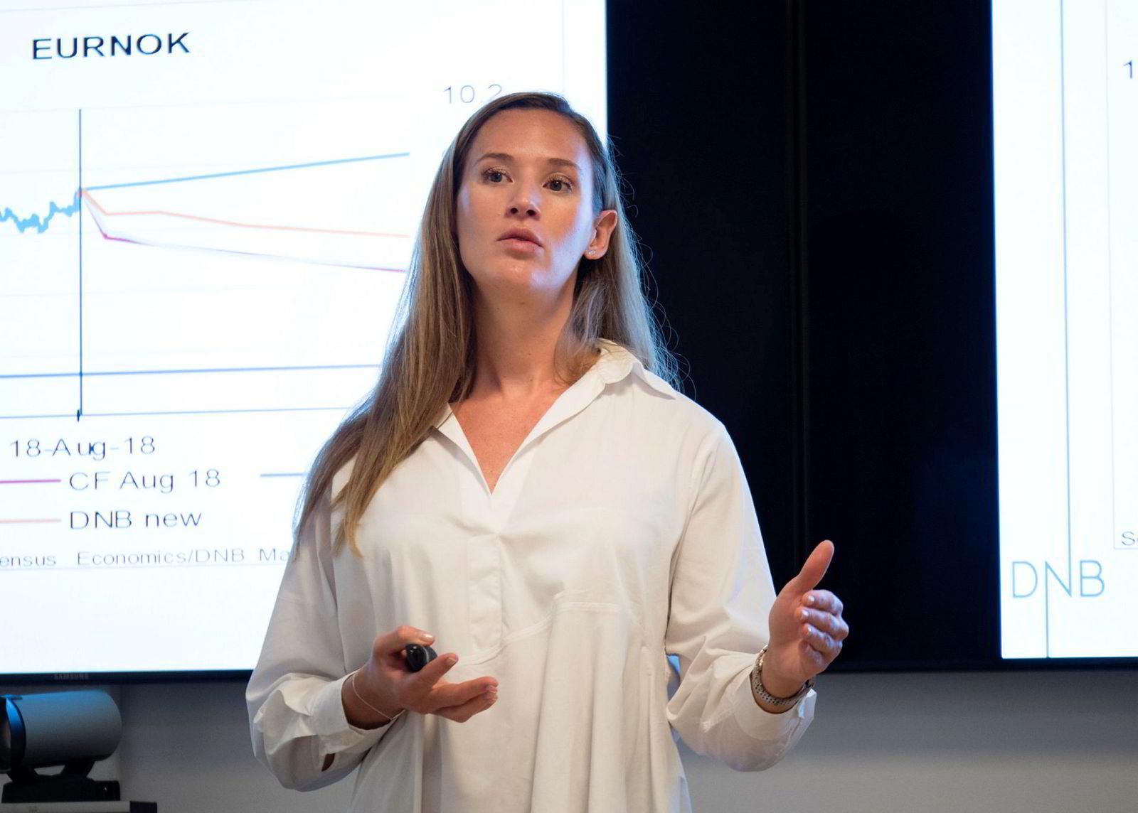 Makroøkonom i DNB Markets, Jeanette Strøm Fjære,