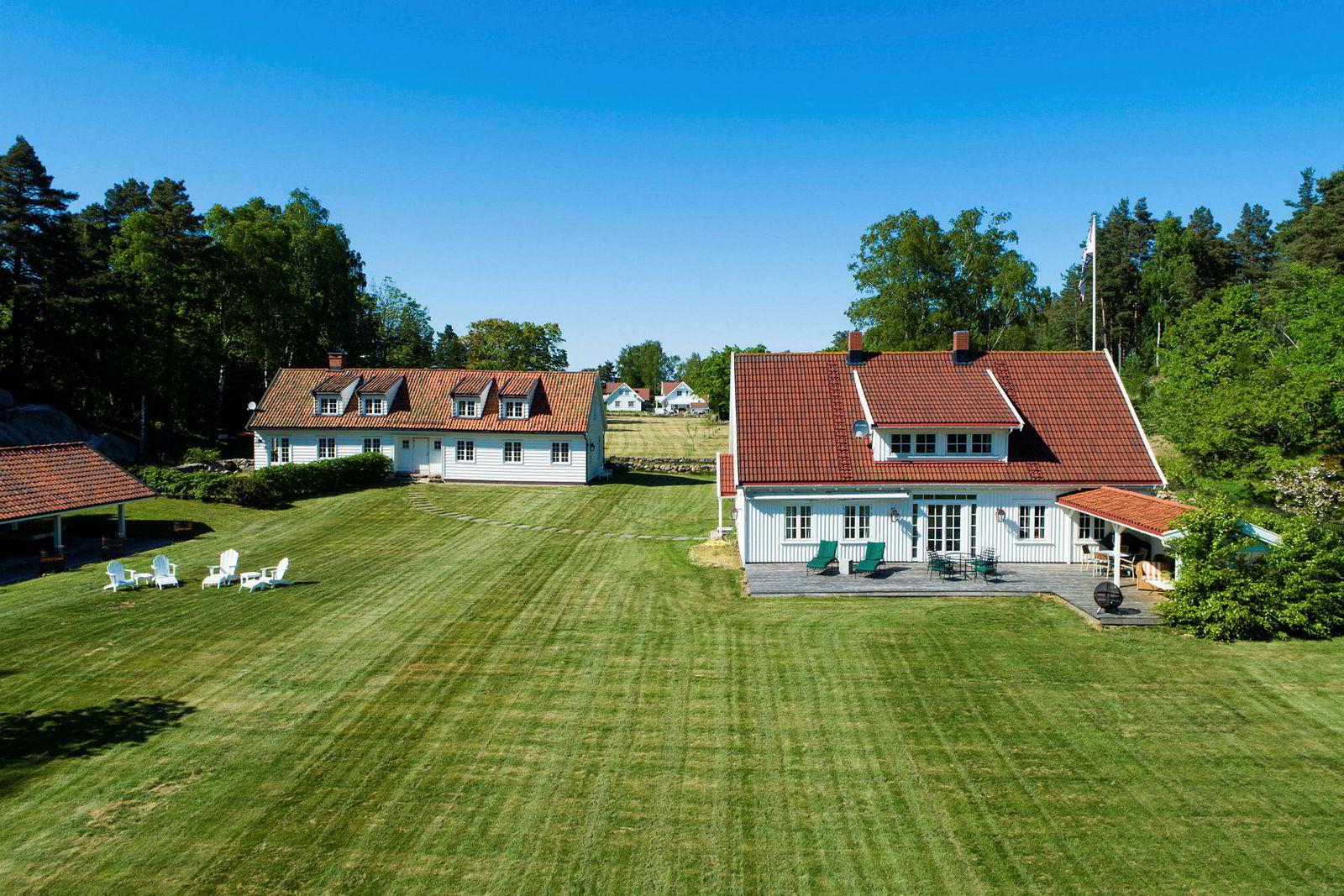 Skipsmegler Even Winjes eiendom på Veierland i Færder kommune ligger ute til 37 millioner kroner.
