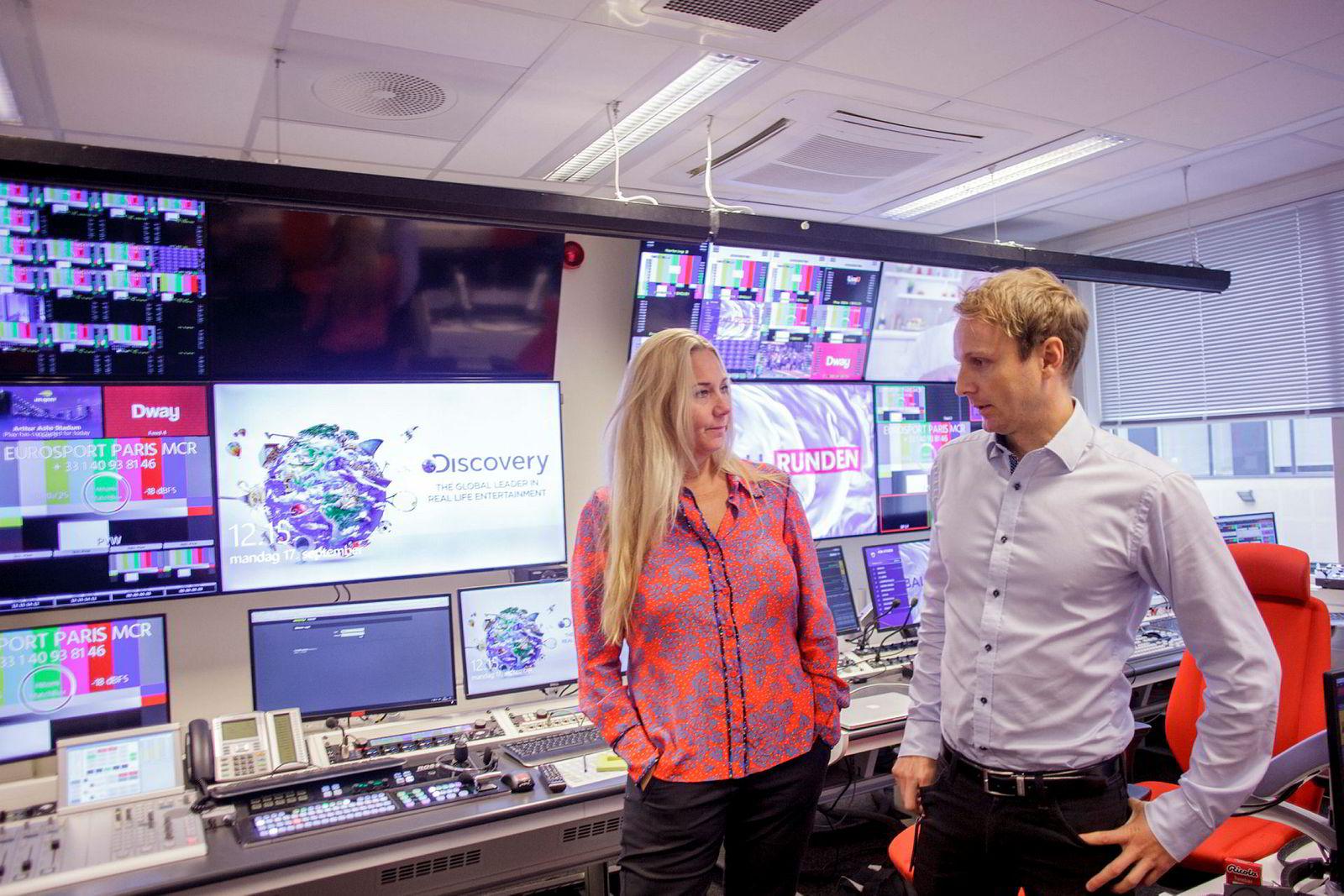 Tv-kanalene til administrerende direktør Tine Austvoll Jensen og nordisk kommunikasjonsdirektør Espen Skoland i Discovery Networks kan være på flyttefot.
